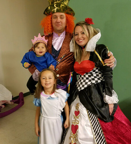 Brianne and family during Halloween